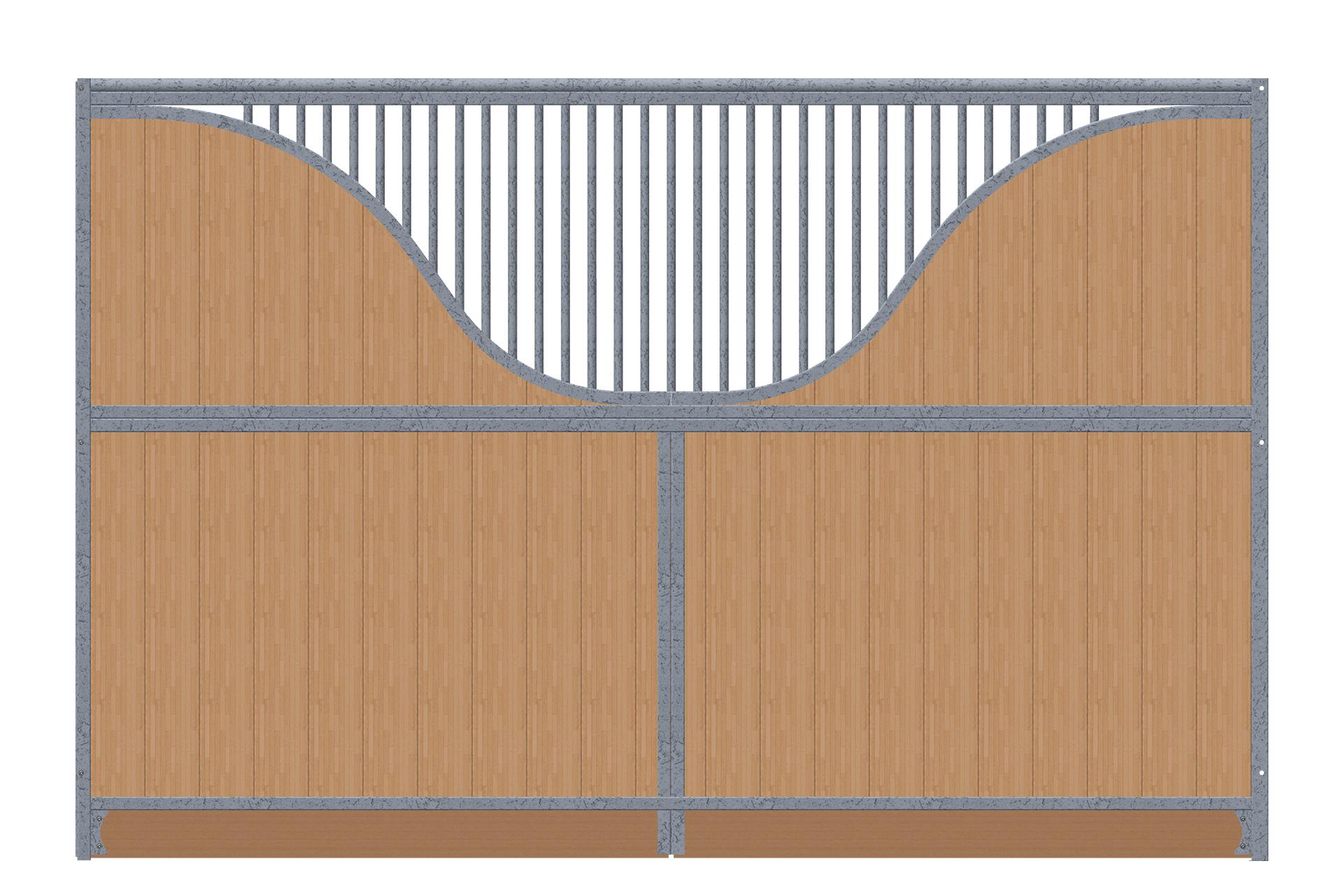 Trennwand-3,5m-2x-S-Bogen-verzinkt