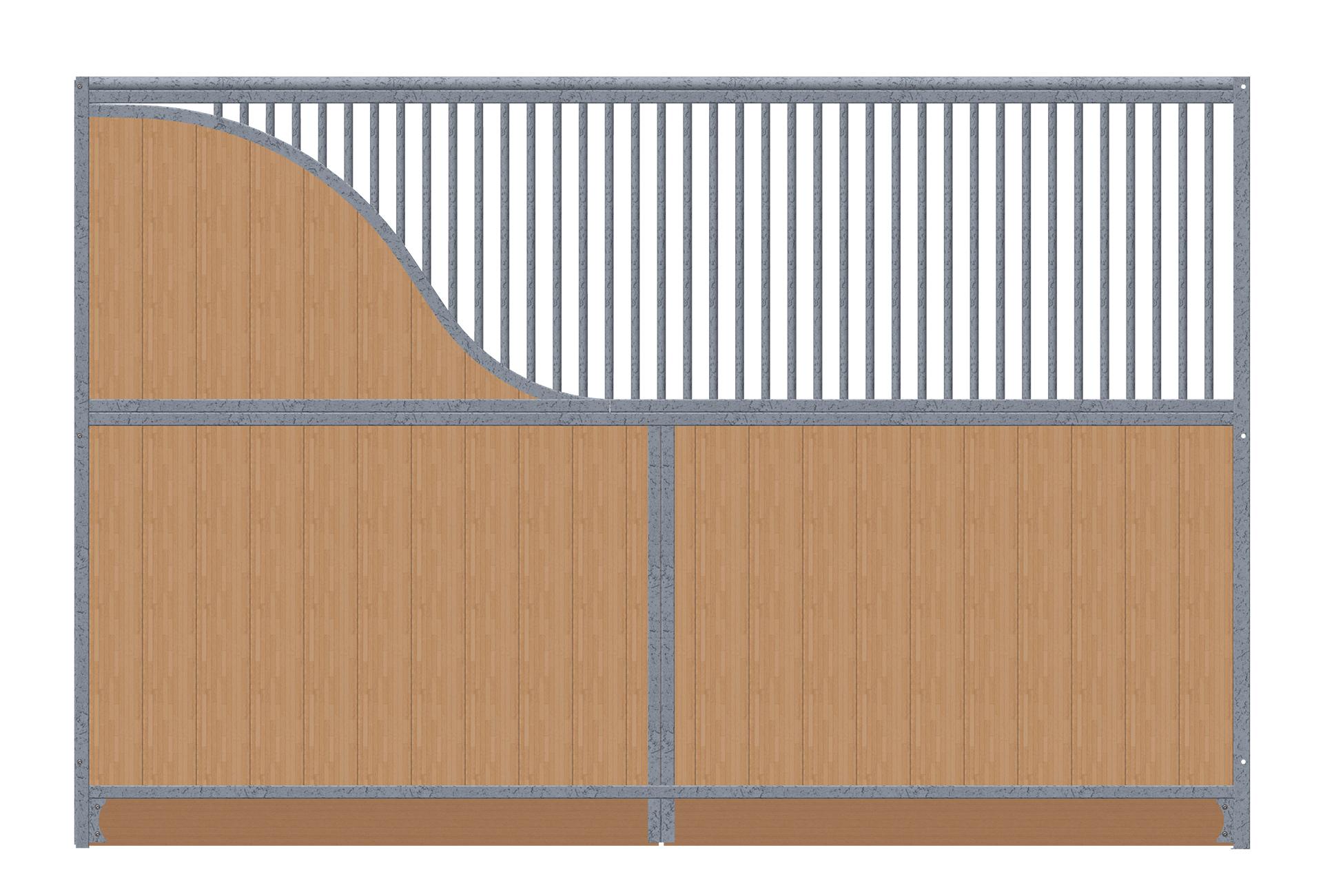Trennwand-3,5m-1x-S-Bogen-verzinkt